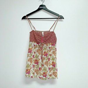 Kirra Womens Tank Top Size Small Floral Pink
